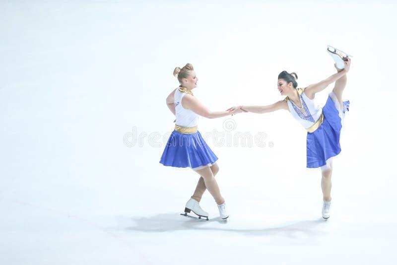 Duo de Team Zagreb Snowflakes Senior image libre de droits