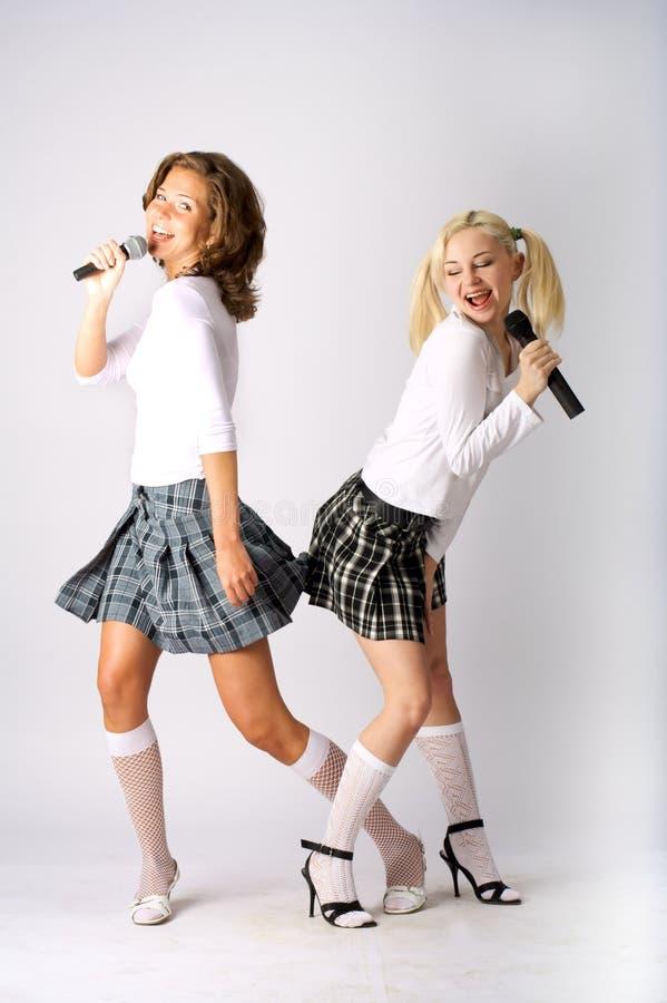 Duo musical foto de stock