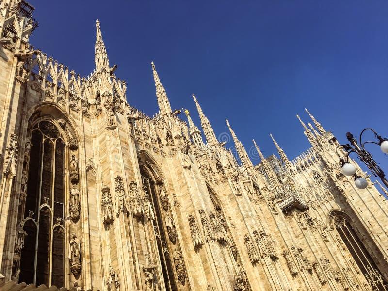 Duomo - καθεδρικός ναός του Μιλάνου, θόλοι στοκ φωτογραφία