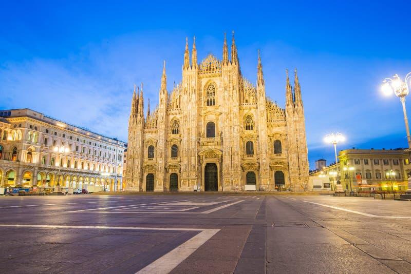 Duomo собора милана в милане, Италии стоковое фото rf