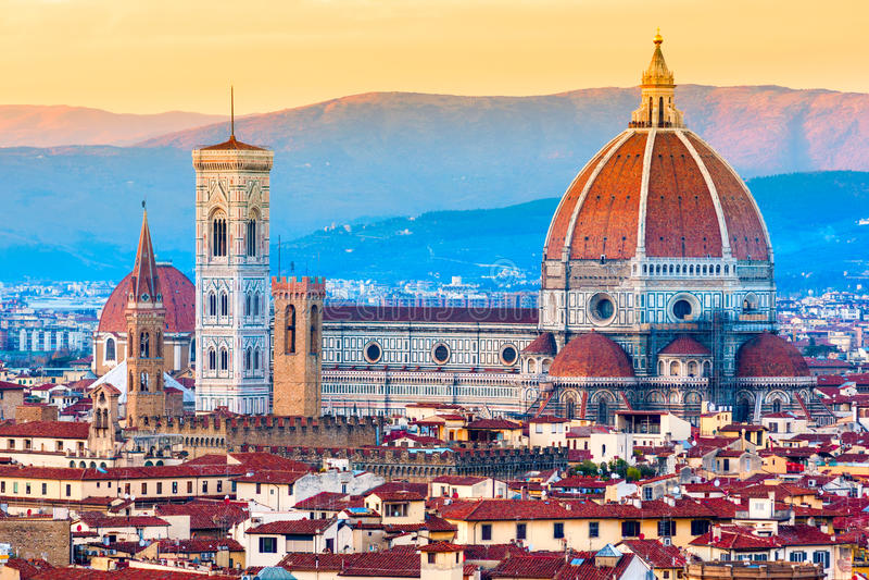 Duomo Флоренса, Тоскана. стоковое фото