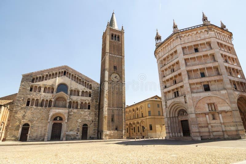 Duomo av Parma arkivbilder
