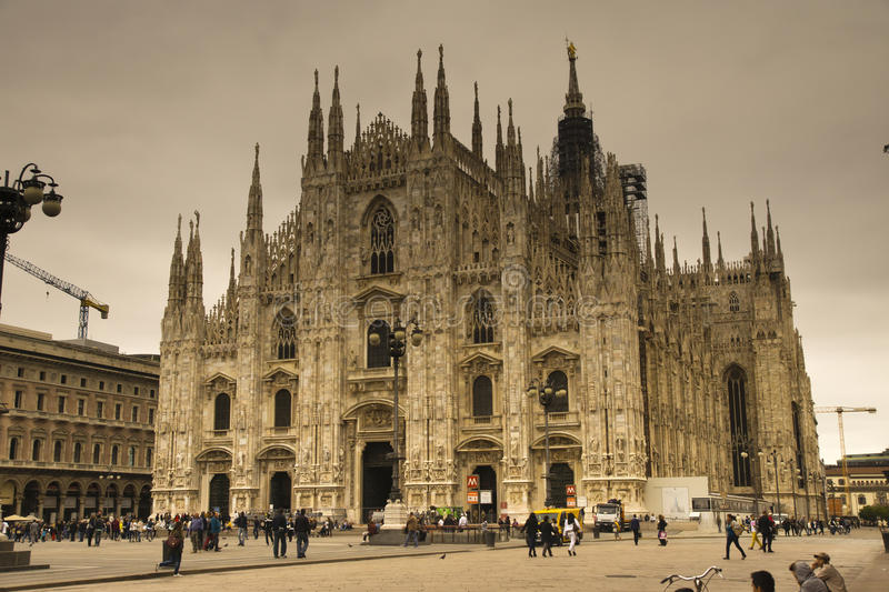 The Duomo Cathdral Milano Italy. View of the Duomo Cathedral in Milano Italy stock photo