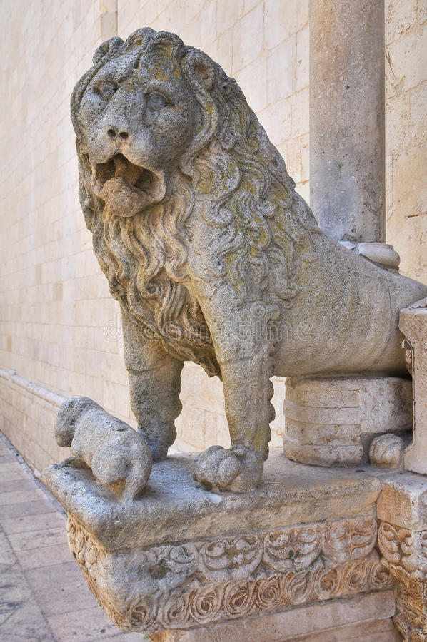 Duomo Cathedral of Altamura. Puglia. Italy. Detail of the Duomo Cathedral of Altamura. Puglia. Italy royalty free stock photography