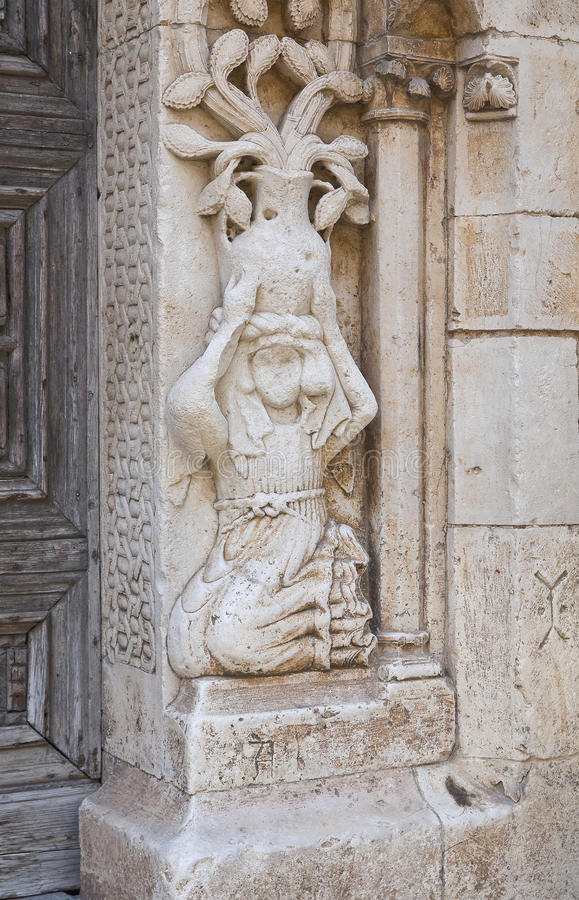 Duomo Cathedral of Altamura. Puglia. Italy. Detail of the Duomo Cathedral of Altamura. Puglia. Italy royalty free stock images