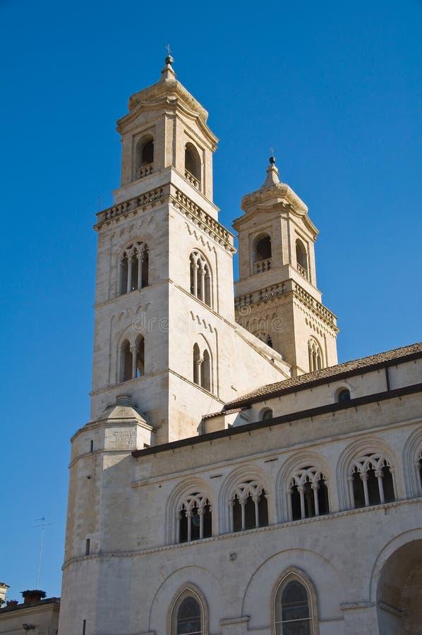 Duomo Cathedral of Altamura. Puglia. Italy. Perspective of the Duomo Cathedral of Altamura. Puglia. Italy stock photos