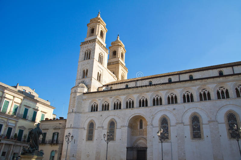 Duomo Cathedral of Altamura. Puglia. Italy. Perspective of the Duomo Cathedral of Altamura. Puglia. Italy stock photo