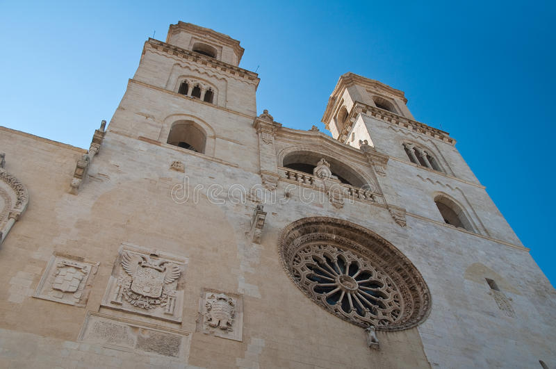Duomo Cathedral of Altamura. Puglia. Italy. Perspective of the Duomo Cathedral of Altamura. Puglia. Italy royalty free stock images