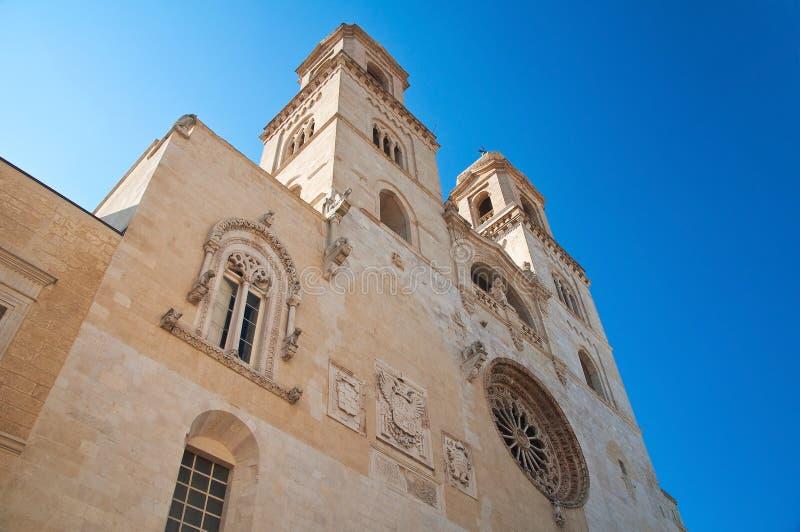 Duomo Cathedral of Altamura. Puglia. Italy. Perspective of the Duomo Cathedral of Altamura. Puglia. Italy royalty free stock photos