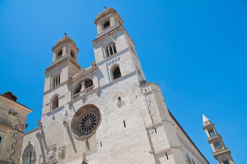 Duomo Cathedral of Altamura. Puglia. Italy. Perspective of the Duomo Cathedral of Altamura. Puglia. Italy stock images