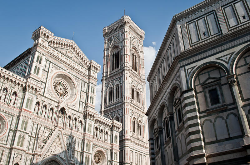 Duomo cathedral florence. The Basilica di Santa Maria del Fiore (English, Basilica of Saint Mary of the Flower) is the main church of Florence, Italy. Il Duomo royalty free stock photos