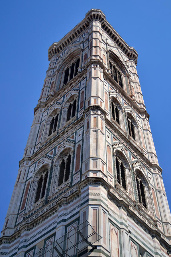The Duomo cathedral tower in Florence, Italy stock image