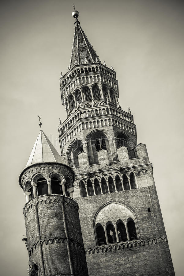 Duomo of Cremona city bell tower royalty free stock image