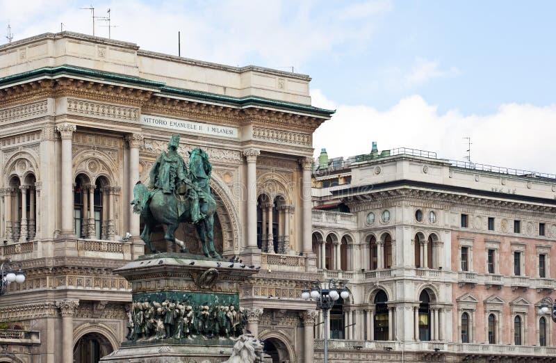Duomo de la plaza, Milano, Italia imágenes de archivo libres de regalías