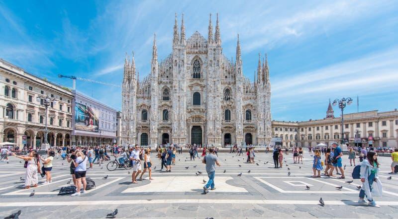 Duomo de Milano, Italia fotos de archivo
