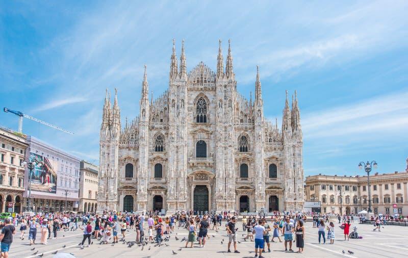 Duomo de Milano, Italia fotografía de archivo