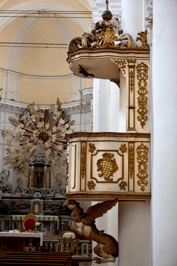 Duomo de pupitre, Noto, Sicile, Italie photographie stock libre de droits