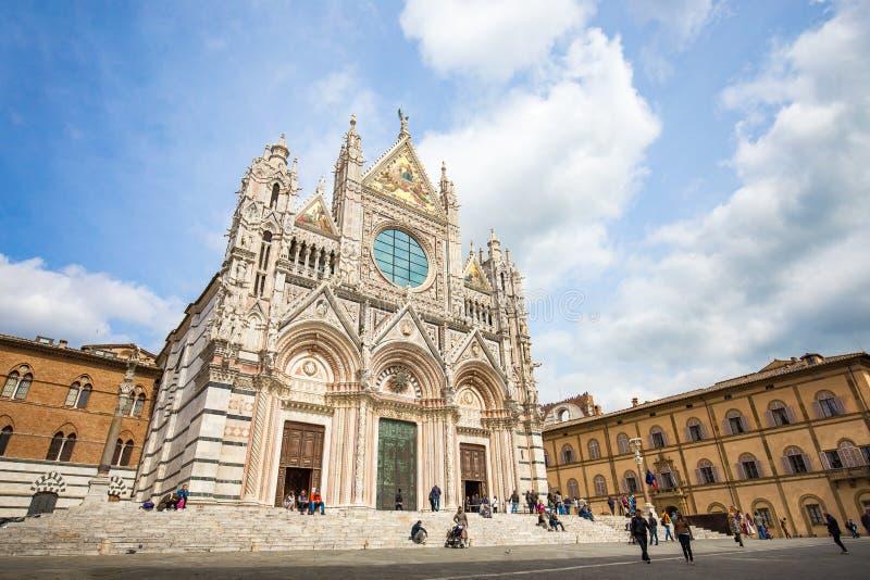 Duomo de Siena en Siena, Italia fotografía de archivo