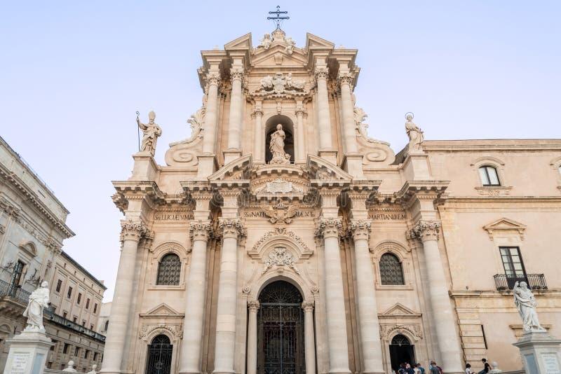 Duomo de Siracusa en Sicilia meridional, Italia imagen de archivo libre de regalías