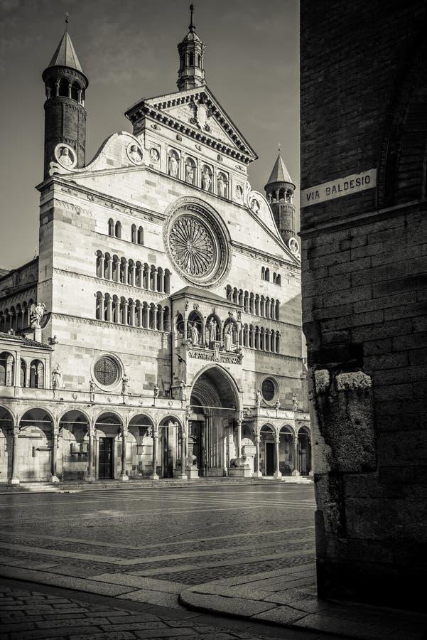 Duomo de ville Italie de Crémone image libre de droits