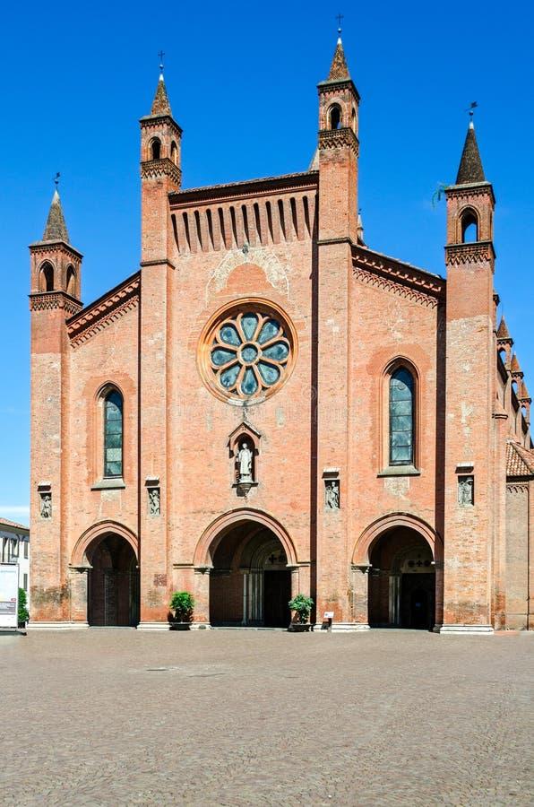 Duomo di Album (Alba Cathedral), Piedmont royaltyfri foto