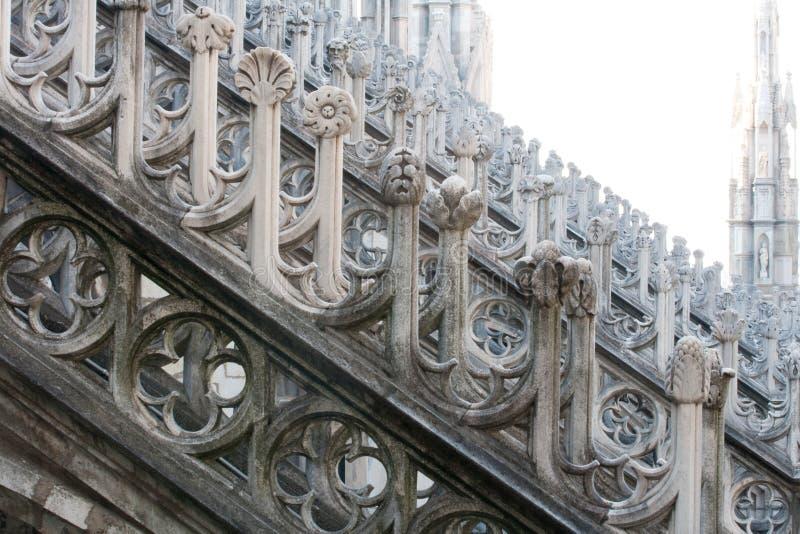 Duomo di Milano. Detail of sculptural decoration of the Duomo in Milan stock photo