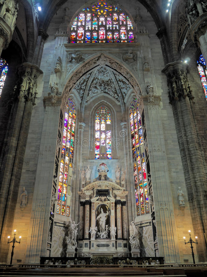 Duomo di Milano Altar stock photo
