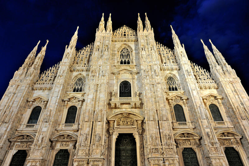 Duomo di Milano Cathedral, in Milan, Italy royalty free stock photography