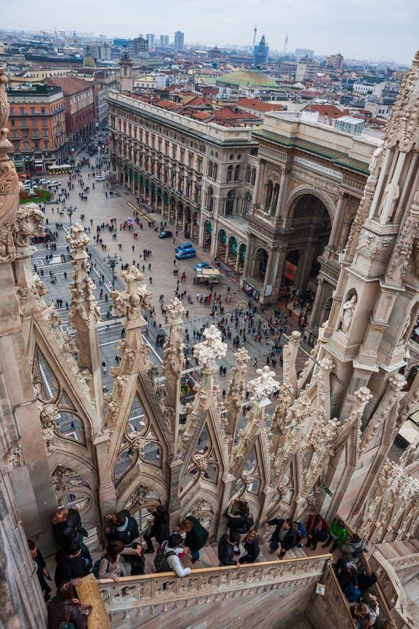 Duomo di Milano i Milano, Italien arkivbild