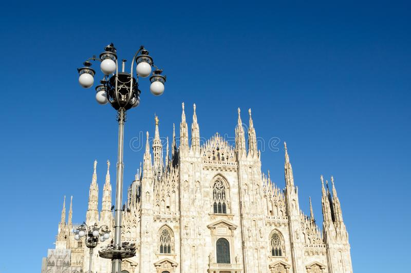 Duomo di Milano - Milan Dome. Ancient cathedral in Northern Italy stock photography