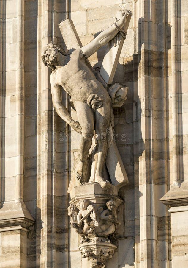 Duomo di Milano, statue immagini stock libere da diritti