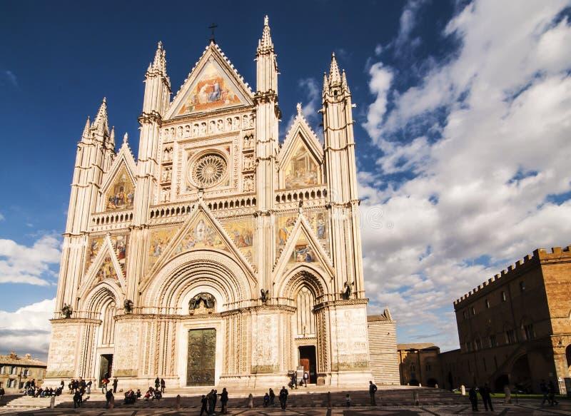 Duomo di Orvieto immagine stock