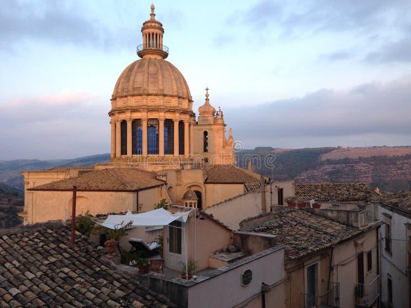 Duomo di San Giorgio, Ragusa Ibla stockfotos