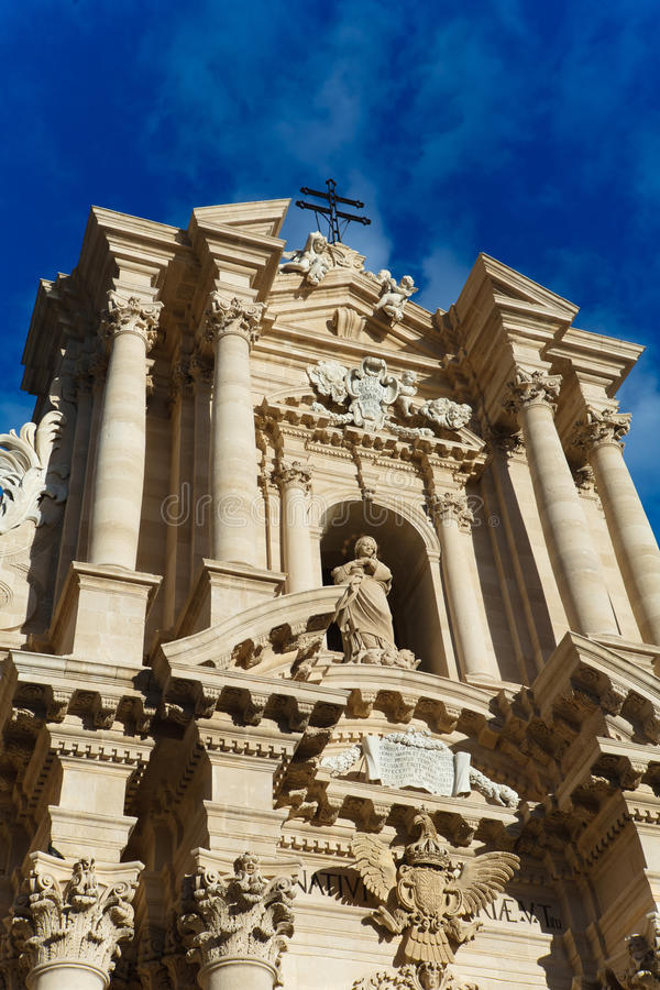 Duomo di Siracusa fotografia stock libera da diritti