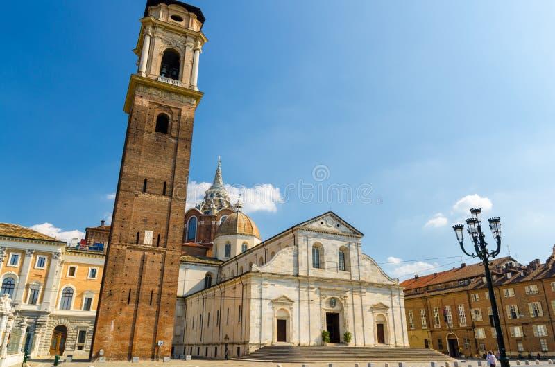 Duomo di Torino San Giovanni Battista catholic cathedral where the Holy Shroud of Turin stock photos