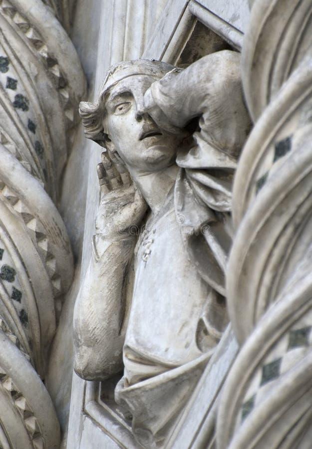 Duomo of Florence. Detail stock image
