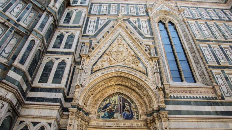 Duomo Florence; katedra Santa Maria del Fiore we Florencji, Włochy Szczegóły fotografia stock