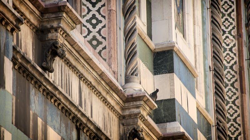 Duomo Florence; katedra Santa Maria del Fiore we Florencji, Włochy Szczegóły obraz stock