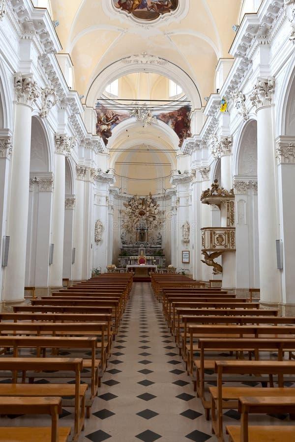 Duomo intérieur, Noto, Sicile, Italie image libre de droits
