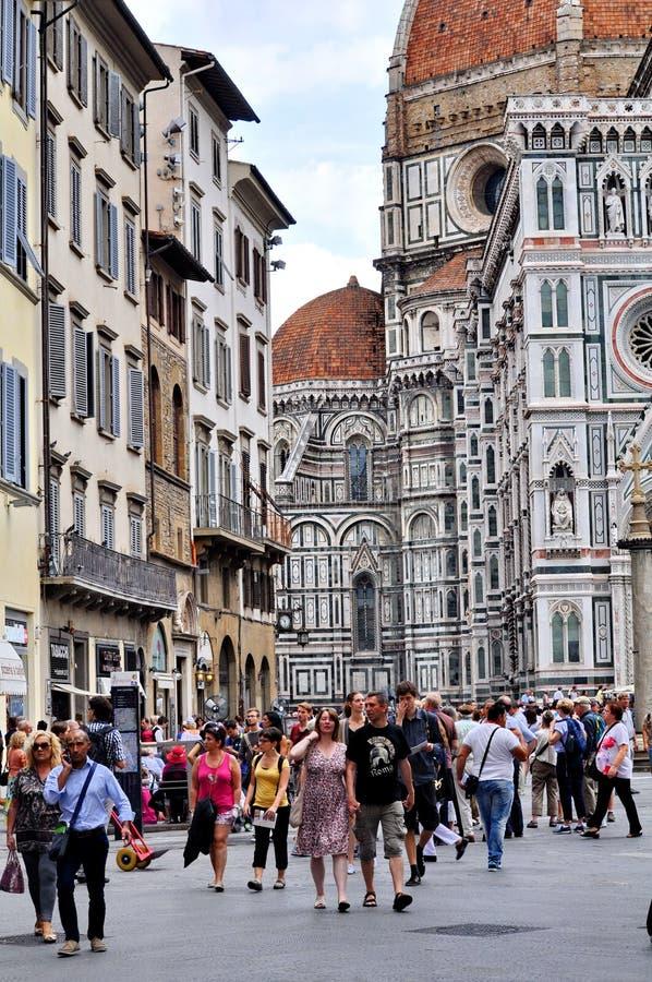 Duomo-Kathedrale Cattedrale Santa Maria del Fiore, Kathedrale der Heiliger Maria der Blumen, Florenz, Italien lizenzfreie stockfotos