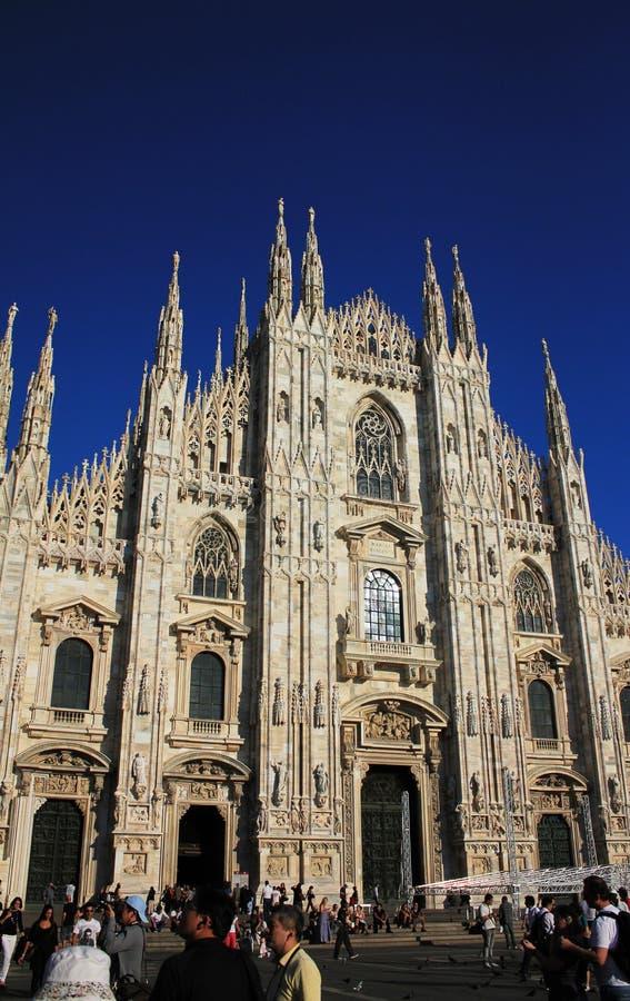 Duomo-Kathedrale in Mailand, Italien stockbild