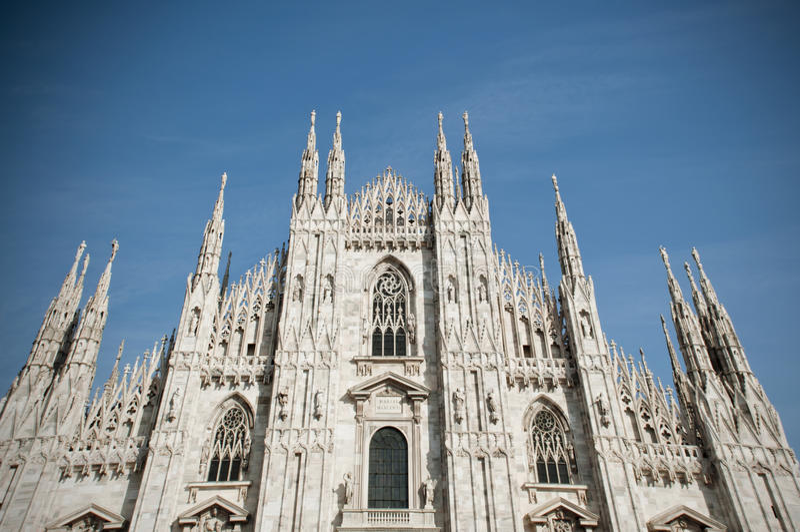Duomo in Mailand stockbild