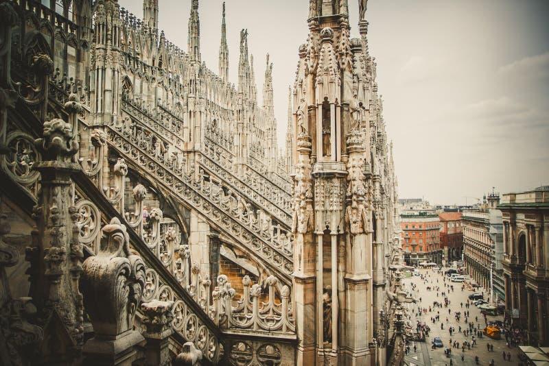 Duomo in Milaan stock foto's