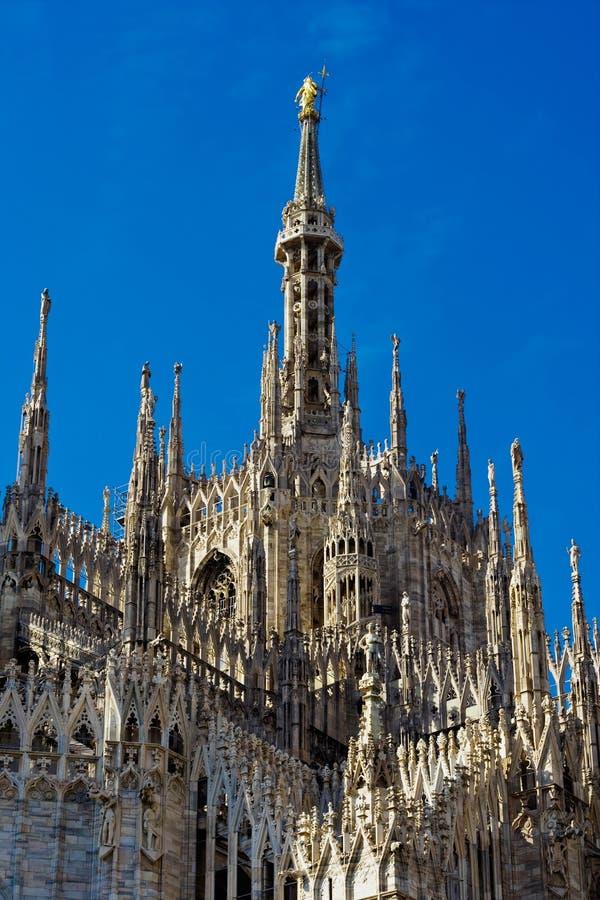 Download Duomo of Milan stock image. Image of ornate, blue, building - 12143031