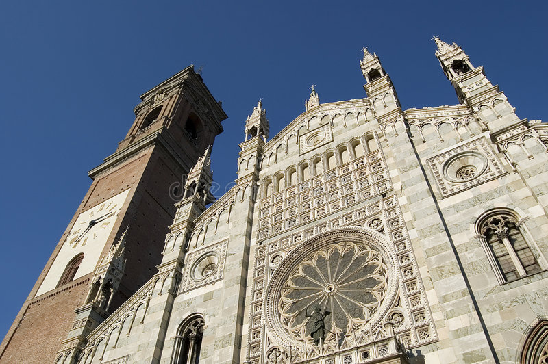 Duomo of Monza stock photo