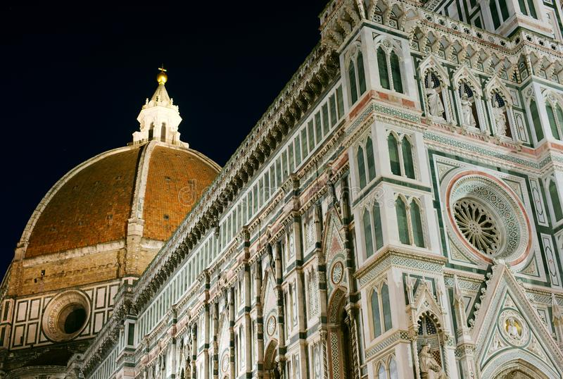 Duomo nachts, Florenz, Italien lizenzfreie stockfotos