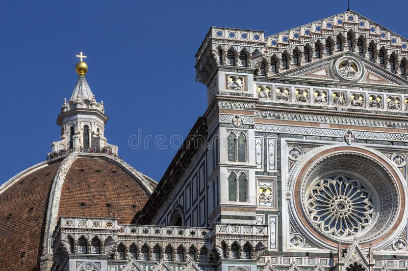 Duomo next to the Campanile - Florence - Tuscany - Italy stock image