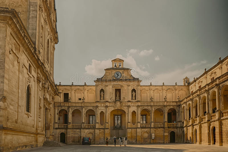 Duomo plaza in Lecce. Duomo plaza in the south Italy called Lecce stock images