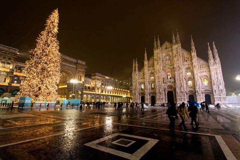 Duomo Plaza - Milano - 2009 stock images