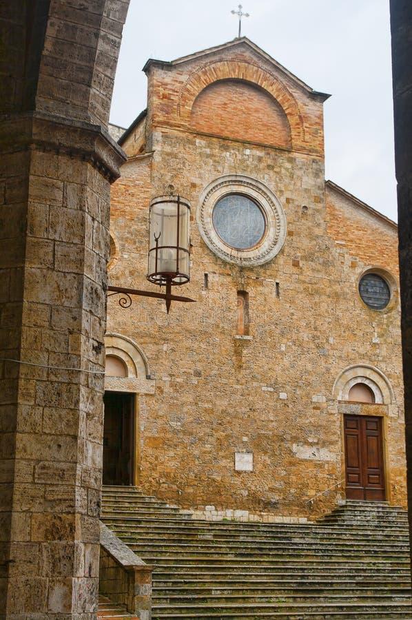 Duomo in San Gimignano, Toscanië royalty-vrije stock fotografie